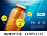 fish oil template background | Shutterstock .eps vector #1145935988