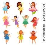 fairy girl vector magic faery...   Shutterstock .eps vector #1145939705