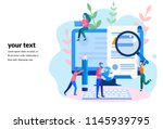Stock vector concept blogging education creative writing content management for web page banner 1145939795