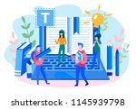 concept blogging  education ... | Shutterstock .eps vector #1145939798