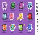 phone emoji vector gadget...   Shutterstock .eps vector #1145939822