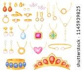 jewelry vector jewellery gold... | Shutterstock .eps vector #1145939825