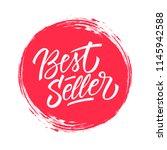 best seller handwritten... | Shutterstock .eps vector #1145942588