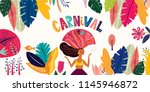 brazil carnival. vector... | Shutterstock .eps vector #1145946872