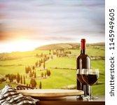 Wine Bottle Desk Free Space - Fine Art prints