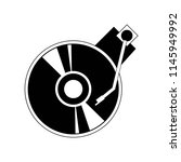 turntable icon vector icon.... | Shutterstock .eps vector #1145949992