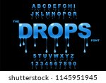 vector of modern bold font and... | Shutterstock .eps vector #1145951945