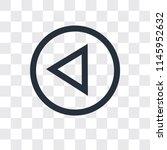 left arrow vector icon isolated ... | Shutterstock .eps vector #1145952632