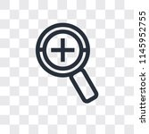 zoom vector icon isolated on... | Shutterstock .eps vector #1145952755
