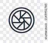shutter vector icon isolated on ... | Shutterstock .eps vector #1145952785