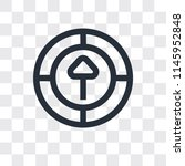 upload vector icon isolated on... | Shutterstock .eps vector #1145952848