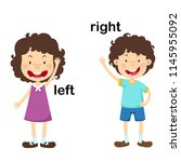 opposite left and right vector... | Shutterstock .eps vector #1145955092