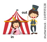opposite in and out vector...   Shutterstock .eps vector #1145955128