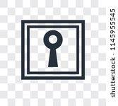 keyhole shape vector icon... | Shutterstock .eps vector #1145955545