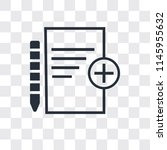 add new document vector icon...   Shutterstock .eps vector #1145955632