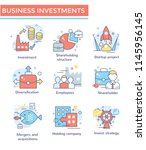 business investment  mergers... | Shutterstock .eps vector #1145956145