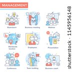 business management and... | Shutterstock .eps vector #1145956148