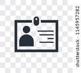 id card vector icon isolated on ... | Shutterstock .eps vector #1145957282