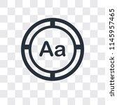 uppercase and lowercase letter... | Shutterstock .eps vector #1145957465