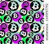 bitcoin crypto trade seamless... | Shutterstock .eps vector #1145957792