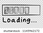 sketchy loading sign  at... | Shutterstock .eps vector #1145962172