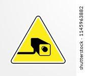 cctv prohibited area. vector   Shutterstock .eps vector #1145963882