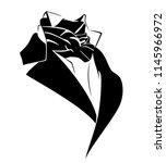 vintage style black necktie... | Shutterstock .eps vector #1145966972