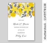 autumn floral wedding... | Shutterstock .eps vector #1145978138