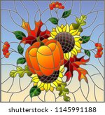 illustration in stained glass... | Shutterstock .eps vector #1145991188