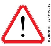 danger sign  warning sign ... | Shutterstock .eps vector #1145991758
