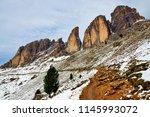 mountain group sassolungo ... | Shutterstock . vector #1145993072