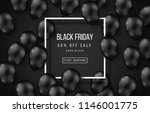 black friday sale poster with... | Shutterstock .eps vector #1146001775