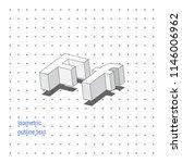isometric outline 3d text.... | Shutterstock .eps vector #1146006962