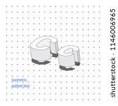 isometric outline 3d text.... | Shutterstock .eps vector #1146006965