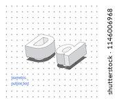 isometric outline 3d text.... | Shutterstock .eps vector #1146006968