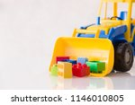 colorful plastic bricks and... | Shutterstock . vector #1146010805