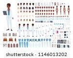 african american female doctor... | Shutterstock .eps vector #1146013202