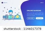 online banking concept  man...   Shutterstock .eps vector #1146017378