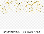 golden tiny confetti and... | Shutterstock .eps vector #1146017765