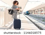young black woman waiting for... | Shutterstock . vector #1146018575