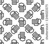 beer mug icon seamless pattern...   Shutterstock .eps vector #1146023375