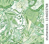 tracery seamless pattern.... | Shutterstock .eps vector #1146023768