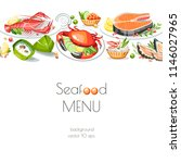 seafood horizontal background... | Shutterstock .eps vector #1146027965