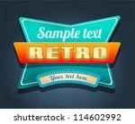 retro motel sign. vector | Shutterstock .eps vector #114602992