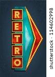 retro motel sign. vector | Shutterstock .eps vector #114602998