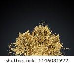 gold paint splash creative...   Shutterstock . vector #1146031922