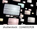 noise on old tv sets. flight... | Shutterstock . vector #1146031928