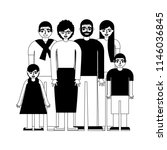 group of family members... | Shutterstock .eps vector #1146036845
