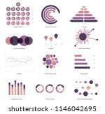 infographic elements  annual... | Shutterstock .eps vector #1146042695