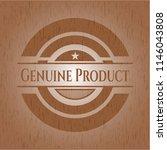 genuine product wooden emblem.... | Shutterstock .eps vector #1146043808